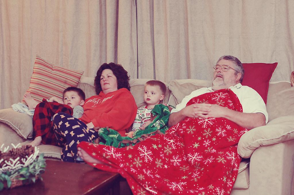 Tracy, boys, Gpa Christmas 2010