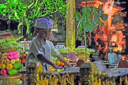 Young Boy at Temple Ceremony in Ubud, December 2010