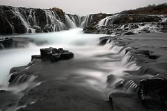 Brarfoss (sveppigum) Tags: winter cold ice water rock canon river waterfall iceland 5d foss sland vetur icecold klettar canon2470 klaki brarfoss