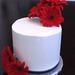Red Gerber Anniversary Cake