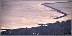 giocando con la scia (FDolfini) Tags: sunset sea barca tramonto mare pra genova porto meda bot breakwater diga voltri pegli vte montegazzo