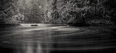 stirring the pot ([Adam Baker]) Tags: new york bw lake nature monochrome forest canon river landscape flow long exposure hiking pano indian upstate nd swirl hudson eddy preserve adirondack 1740l headwaters churning adambaker 5dmkii riversandlakestnc11