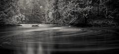 stirring the pot ([Adam Baker]) Tags: new york bw lake nature monochrome forest canon river landscape flow long exposure hiking pano indian upstate nd swirl hudson eddy preserve adirondack 1740l headwaters churning adambaker 5dmkii riversandlakestnc11