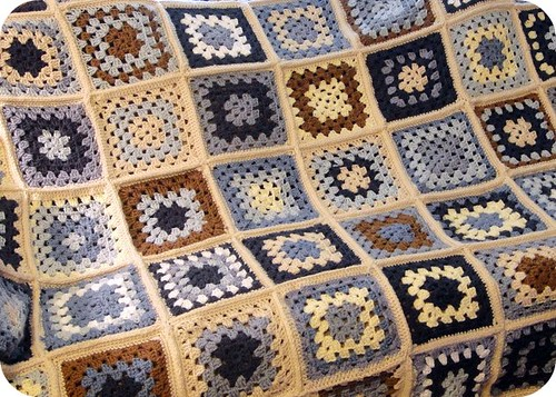 Granny square afghan--Made with love