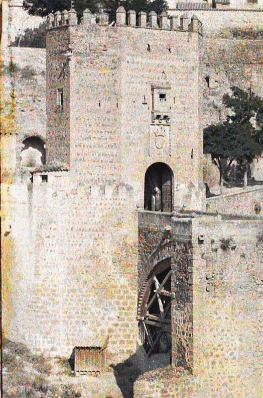 Puente de Alcántara entre el 15 y el 17 de junio de 1914. Autocromo de Auguste Léon (detalle). © Musée Albert-Kahn - Département des Hauts-de-Seine