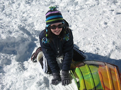 (HIRH_MOM) Tags: arizona snow cold beautiful smiles sledding familyfun coldweather newyearsday snowballfight smilinggirl 2011 mybeautifuldaughter snowplay funinthesnow strawberryarizona