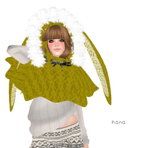 *RibboNori, on *Bunny-Poncho(YELLOW)