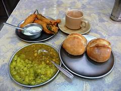 Pao Bhaji Cha mirchi Rs.50 (joegoauk35) Tags: bread tea goa cha bhaji mirchi paum joegoauk undde