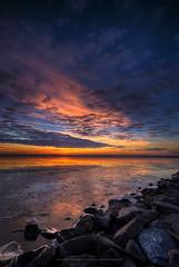 Feel The Magic (·BigGolf·) Tags: ice clouds sunrise spectacular virginia twilight colorful ontherocks newyearseve groyne potomacriver hdr woodbridge groin naturesfinest leesylvaniastatepark