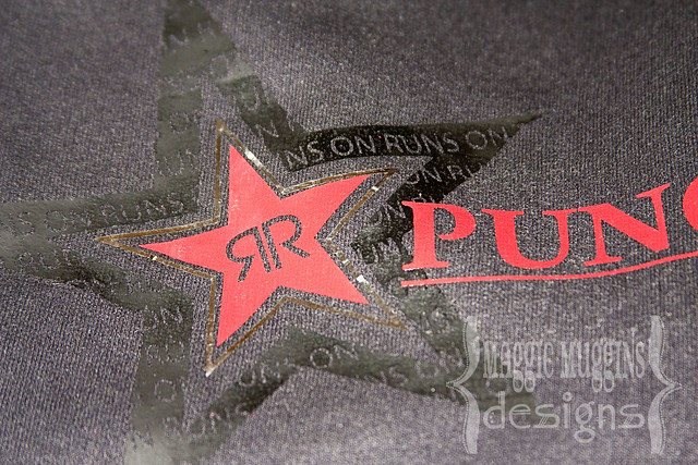 Rockstar Punched Logo with Silhouette Heat Transfer Vinyl