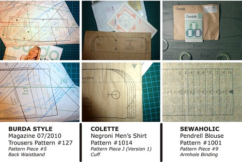 Multi-Size Patterns, Comparing Pieces