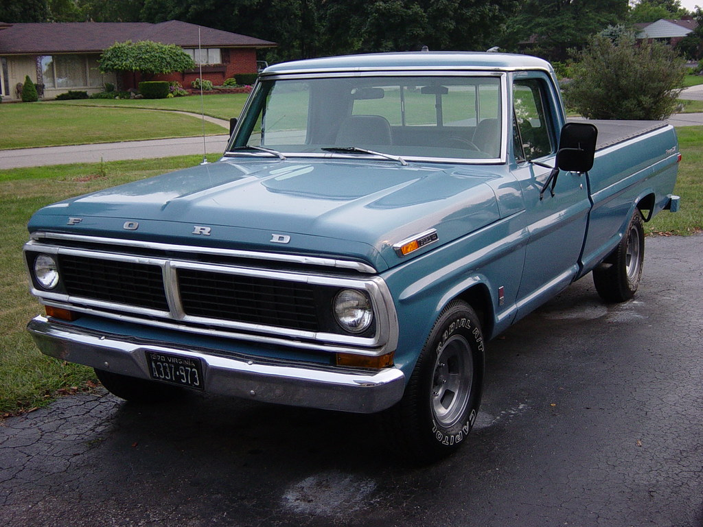 1970 Ford F100 Ranger Blue Truck The Worlds Best Photos Machinehand Flickr Hive Mind 1024x768
