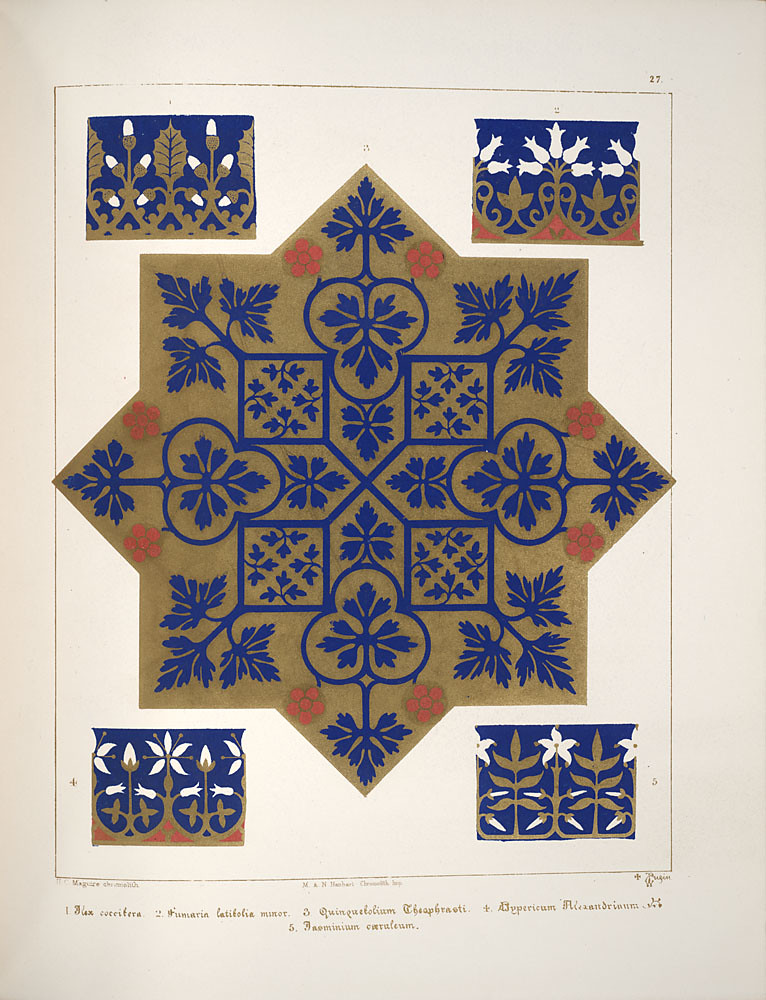 Floriated ornament, a series of thirty-one designs, 1849 - Augustus Welby Northmore Pugin j