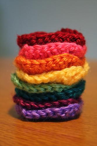 Rainbow of squares
