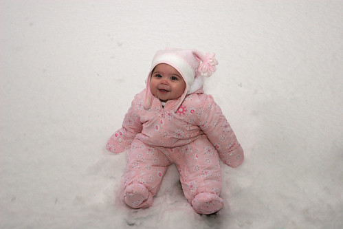 our lil' snow baby