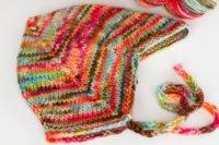 'rustic rainbow' cap + yarn