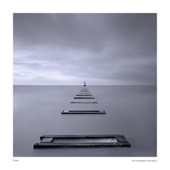 Kode {Explored - thanks!} (Halstead Photographic) Tags: wood longexposure sea bw beach water liverpool sand si pipe explore crosby farscape halstead