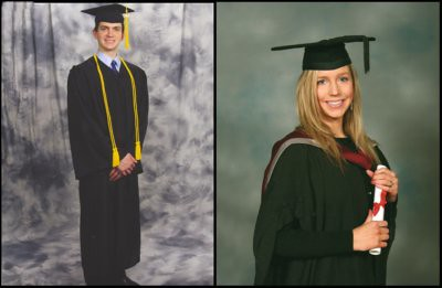 Will, B.A. in Communications from Prescott College, Prescott, Arizona, 4.0 GPA, and Christina, B.A. in Performance and Professional Practice with First Class Honours from Sheffield Hallam University, Sheffield, England.