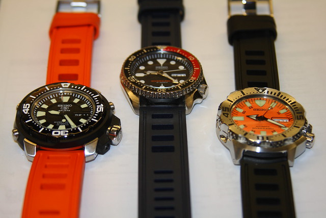 Looking For A Zulu Rubber Strap To Color Match Skx009 Blue