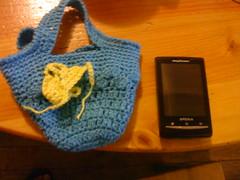 para el celu! (Pąηtitσs Dųlcәs Ѽ) Tags: crochet hechoamano calipso portacelular fatbag carterita
