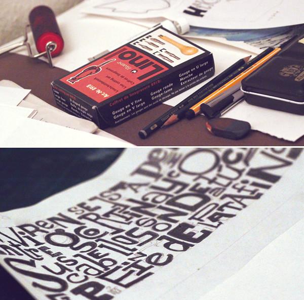 Linolschnitt - anleitung