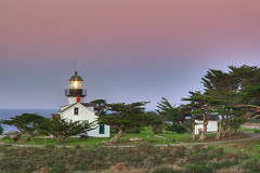 Pt. Pinos lighthouse at sunset (FishStick) Tags: sunset lighthouse monterey pacificgrove centralcalifornia ptpinos