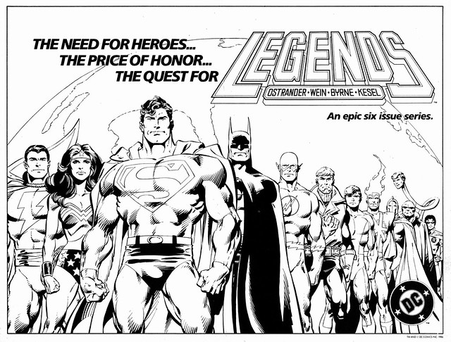 Legends promo poster by John Byrne, 1986