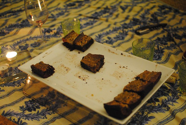 we did some serious damage to the caramel sea salt brownies