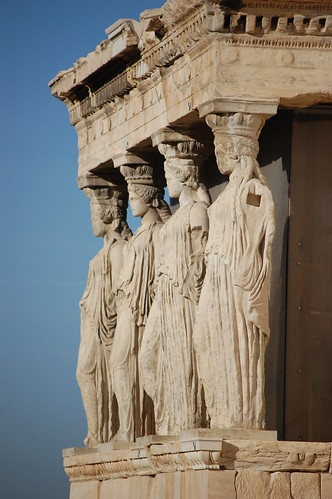 Caryatids on the Porch of Maidens, Acropolis, Athens