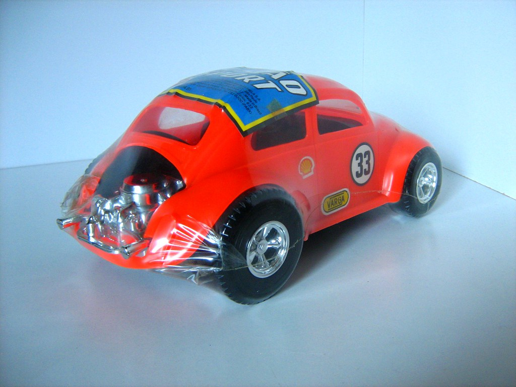 Brazilian-Made Plastic Volkswagen Beetle Toy - 2 of 5