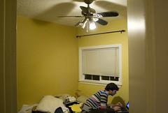 (lauralani) Tags: family yellow bedroom ridgecrest lookingin cameronbailey lauradeangelis lauralani
