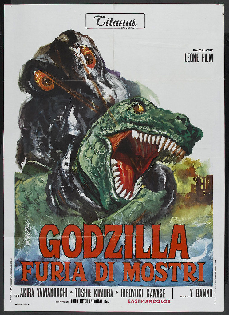 Godzilla vs the Smog Monster (American International, 1972). Italian