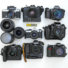 my Nikon History... (Werner Schnell Images (2.stream)) Tags: camera nikon collection kamera werner ws schnell wernerschnell mygearandme