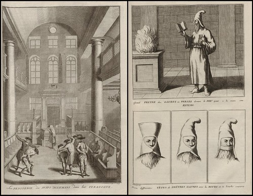 La Penitence des Juifs Allemans dans leur Synagogue AND Pretre des Gaures