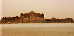 ♥ (eL reEem eL sro0o7e ♥) Tags: sea sepia architecture hotel cloudy uae palace emirates abudhabi الإمارات قصر أبوظبي