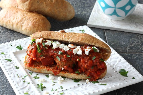 Greek Turkey Meatball Sandwich Recipe - Cookin Canuck