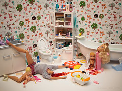I said... fuck Bathtime... (Mariel Clayton - 'Organically Warped') Tags: baby pez toy bathroom duck doll nursery knife barbie toilet basin tub razor talc killingprohibitedpezingallowed