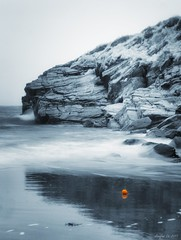 A bit orange (Arnfinn Lie, Norway) Tags: sea orange beach norway rock waves northsea rogaland selectivecolor lberg carlzeiss1680mm sonyalpha350 arnfinnlie carlzeisslover