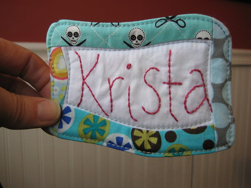 New nametag by Poppyprint