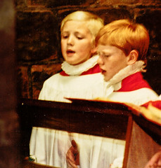 Choristers rehearse in the cloister room beating time (cathedralchoir) Tags: room cloister rogerfisher