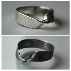 MOBIUS science meets art. Recycled sterling silver. Handcrafted. Unisex. Polished or oxidized finish. (Natalya Oleshkevich) Tags: gay wedding love nerd silver lesbian rainbow friendship handmade unique infinity marriage jewelry science valentine womens ring rings gift lgbt math bracelet mens sterling recycle proposal plain unisex promise geekery betrothal mobius commitment polyamory gogreen