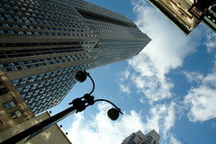 skys the limit in New York (gotham bill) Tags: city nyc ny building nikon cityscape manhattan gotham