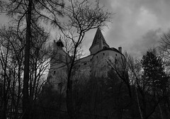 draculas castle bbw (gruntpig) Tags: old travel bw white holiday black building castle history architecture blood europe tour evil eerie dracula knights romania horror transylvania eastern ruler bucharest touring impaled built vlad rumania called bran gruesome tyrant teutonic impalers rumanians romaians