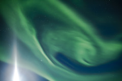 Aurora borealis - Northern lights - Iceland (Arnar Bergur) Tags: light moon green night canon iceland aurora 5d 24mm northern northernlights auroraborealis borealis moonshine phenomenon northernlight  oursolarsystem visipix