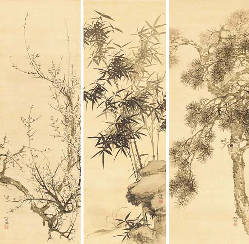Pine, bamboo and plum