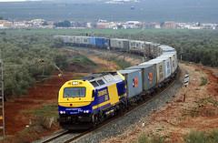 335 029 la roda (serie103) Tags: train tren trenes continental rail trains andalucia caminos roda privadas railes ferrocarril 029 hierro 335 ffcc mercancias