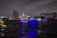 Thamasate pier with Rama9 bridge (MirrorlessvsD-SLR2) Tags: night thailand pier riverside bangkok sony alpha a900 siriraj sal50f14 rama9bridge dxo6