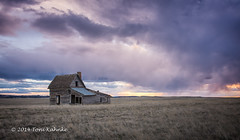 Spring Storm On The Prairie (Toni Kahnke) Tags: sunset sky southdakota country oldhouse prairie oldbuilding tonikahnke