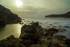 Nanjizal Bay - Long Exposure (Dixie Deane) Tags: distagont2821ze nanjizal seacaves landsend cornwall rocks shoreline cliffs surf zeisslense landscape seascape canon5dmkiii longexposure leefilters leebigstopper