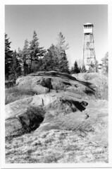 Southern Adirondacks: Silver Gelatin Print (Scott Wethy) Tags: old forge adirondacks bald firetower bw film bwfilm shootfilm analog